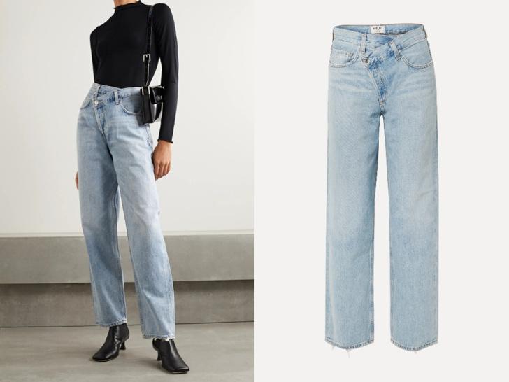 Фото №7 - Голубые джинсы— самая главная покупка лета. Рассказываем, на какие модели обратить внимание