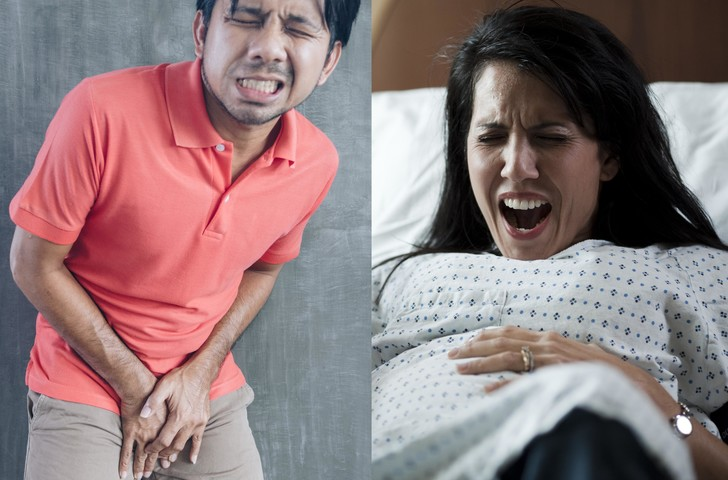 Фото №1 - Что больнее: удар в пах для мужчин или рожать?