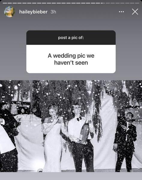 Фото №1 - Хейли Бибер показала новую свадебную фотографию