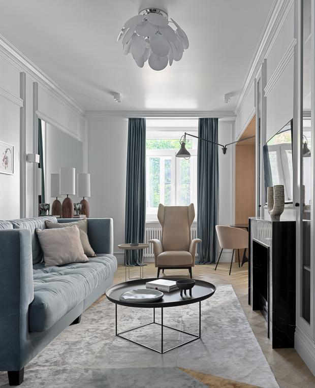 Фото №2 - Современный дизайн квартиры 100 м² в московской сталинке