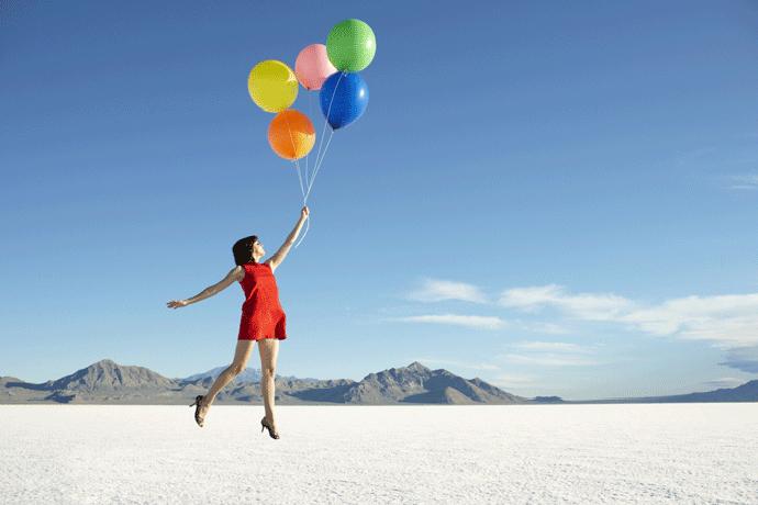 Девушка с воздушными шариками