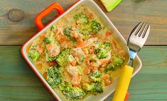Рыба в сливках с овощами
