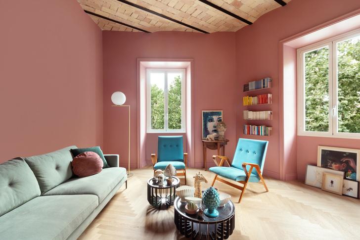 Фото №1 - Яркая квартира в Риме для творческой семьи