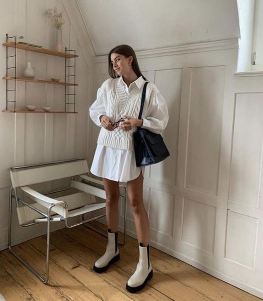 Фото №1 - 5 способов носить белые ботинки этой зимой