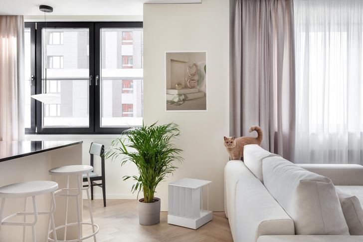Фото №6 - Простота и функциональность: белая квартира 45 м²