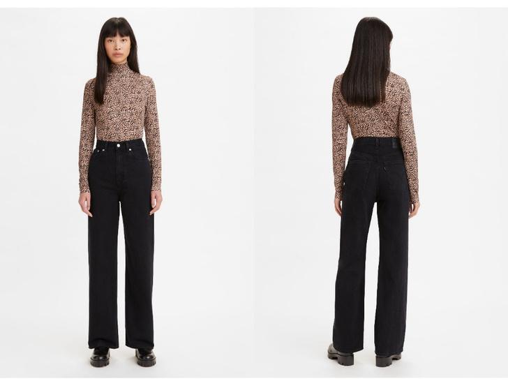 Фото №2 - Актуальные черные джинсы, которые стройнят