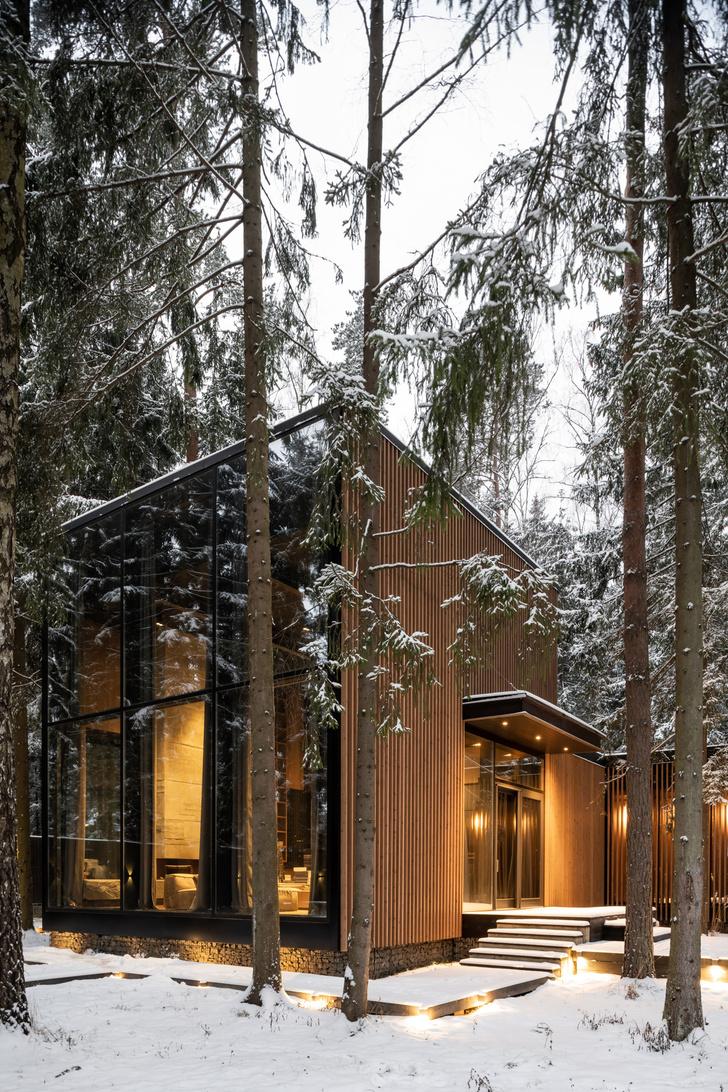 Фото №13 - Загородный дом со стеклянным фасадом