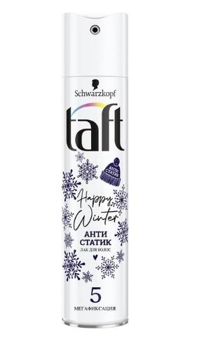 Лак-антистатик Taft Happy Winter с 5 степенью мегафиксации