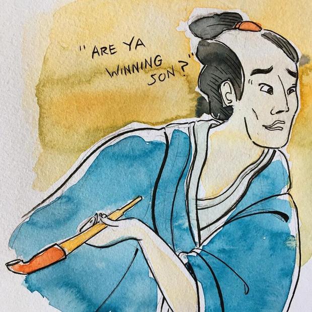 Фото №11 - 11 популярных мемов, нарисованных в стиле японских гравюр