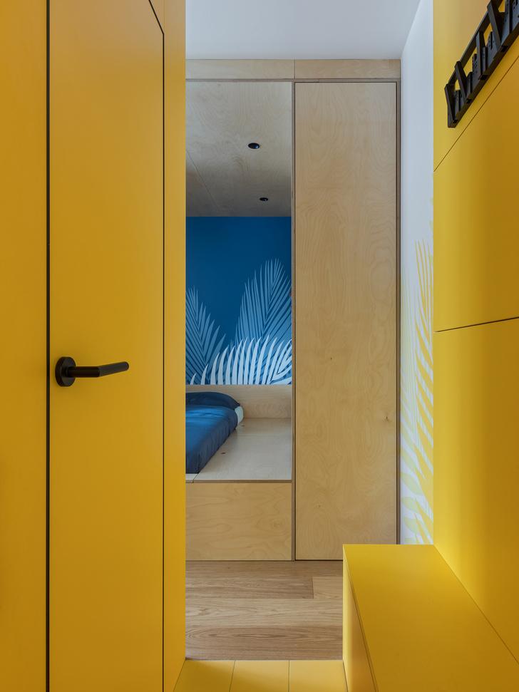 Фото №7 - Цветная студия 25 м² с кроватью на подиуме
