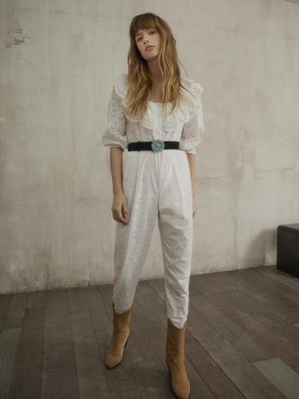 Фото №2 - Платья с воланами и объемные куртки: 15 вещей Claudie Pierlot в стиле бохо
