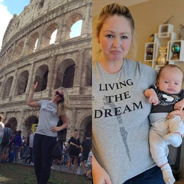 Фото №1 - Жизнь не будет прежней: 30 фото до и после рождения детей