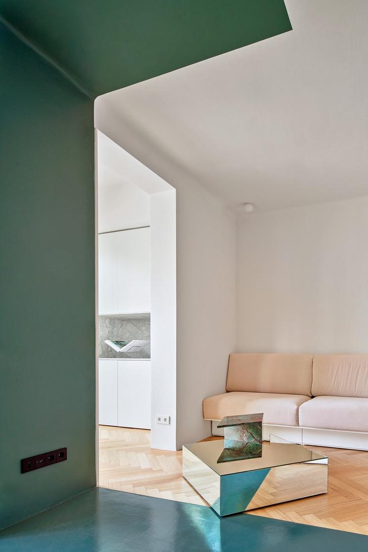 Фото №3 - Квартира с зеленой перегородкой в Барселоне