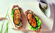 Бутерброд с жареным баклажаном