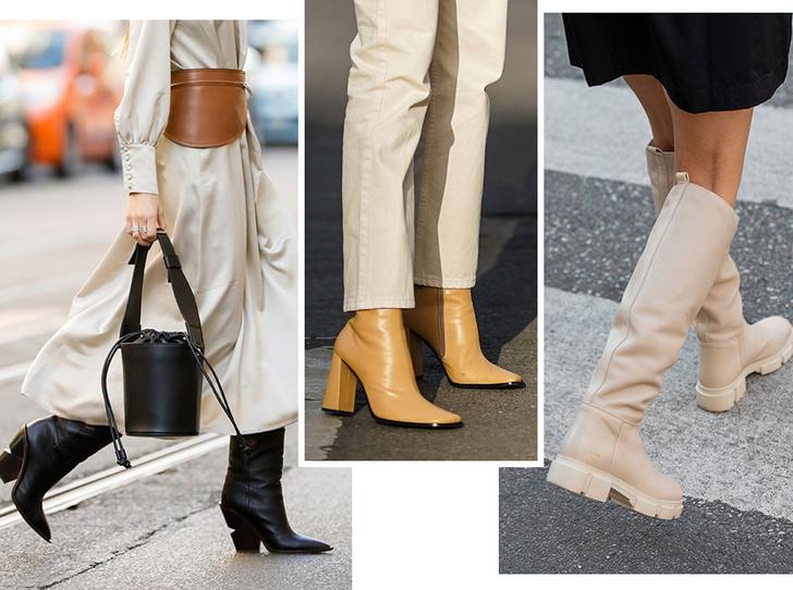 Фото №1 - Самые модные сапоги и ботильоны для осени и зимы 2021/22