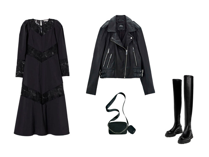 Фото №1 - Вдохновляемся total-black образом Малефисенты: 3 стильных лука на осень