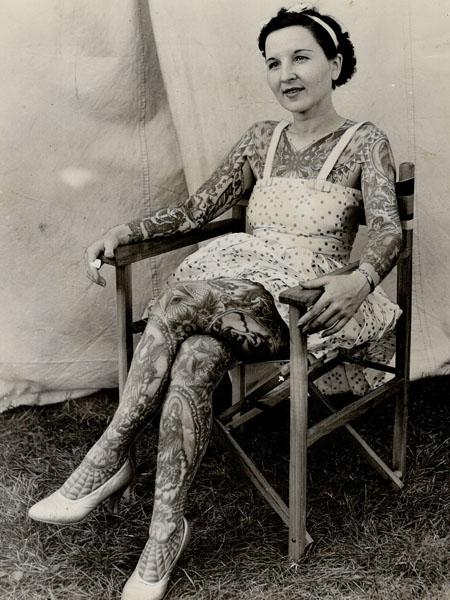 Фото №2 - Мод Вагнер: первая в мире женщина-татуировщица