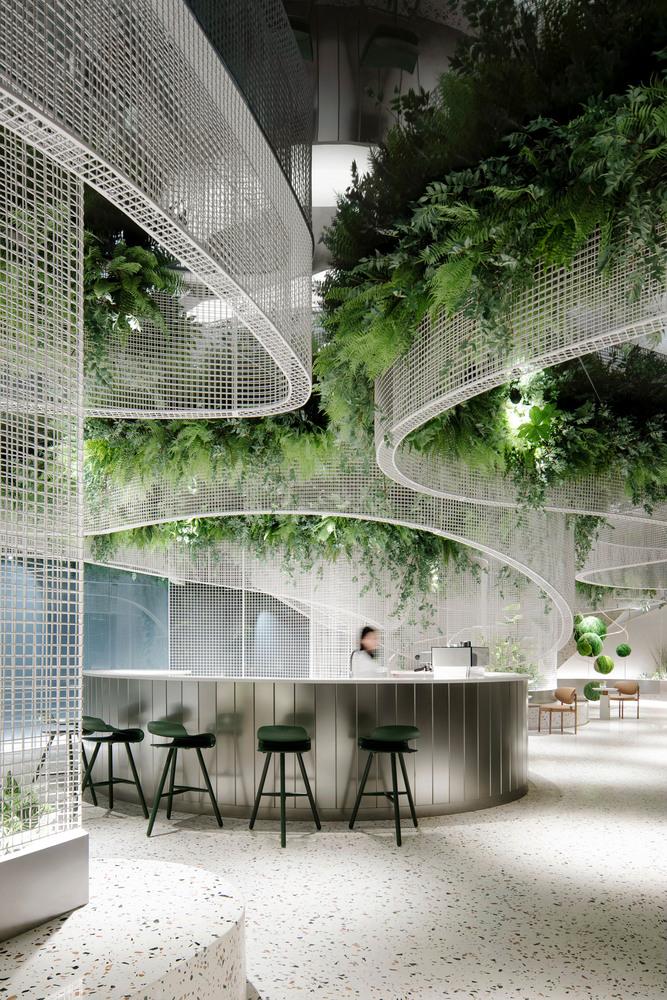 Фото №2 - Кофейня с «парящим» садом в Гуанчжоу