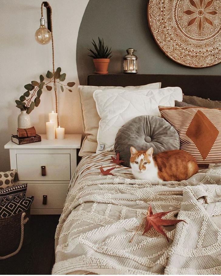 Фото №7 - Спальня в стиле бохо: идеи оформления