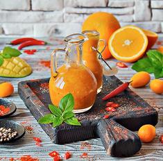 Острый соус из манго с имбирем и чили