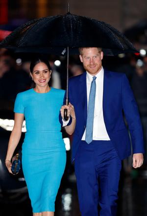Фото №16 - Их модные Высочества: лучшие парные образы Меган и Гарри