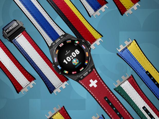 Фото №1 - Спортивный настрой: как выглядят новые смарт-часы Hublot в честь Euro 2020