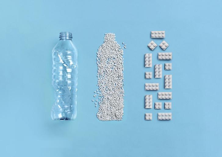Фото №1 - В Lego создали первый «кубик» конструктора из переработанных пластиковых бутылок