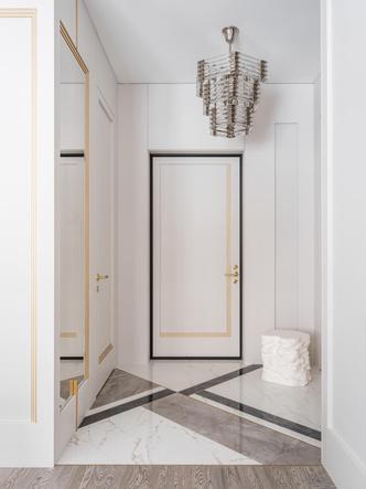 Фото №6 - Квартира в пастельной гамме с золотыми акцентами