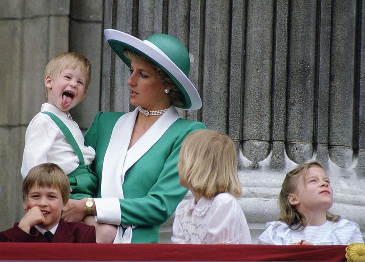 Фото №1 - 26 редких кадров принцессы Дианы с детьми— принцами Гарри и Уильямом