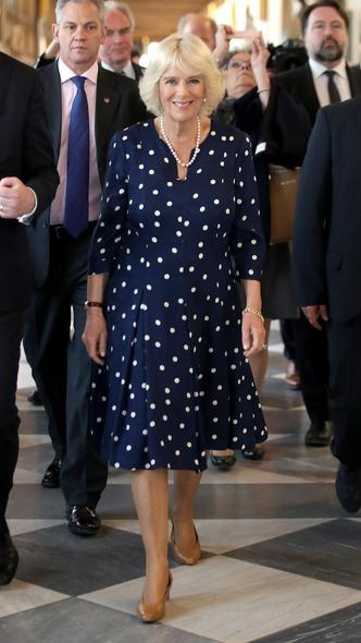 Фото №27 - Полька-дот: как королевские особы носят трендовый «горох»