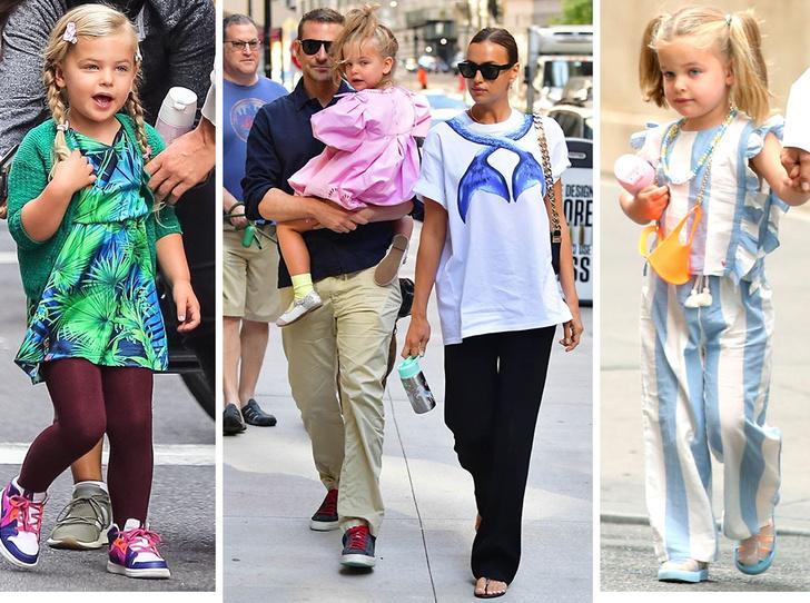 Фото №1 - Самый модный ребенок Нью-Йорка: как одевается дочь Ирины Шейк и Брэдли Купера