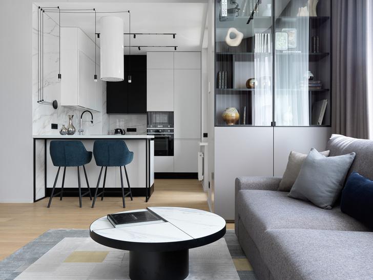 Фото №4 - Монохромная квартира 57 м² для молодой пары в Москве