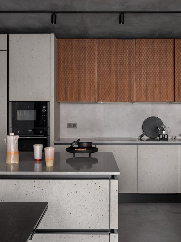 Фото №7 - Игра фактур: серая квартира 104 м²