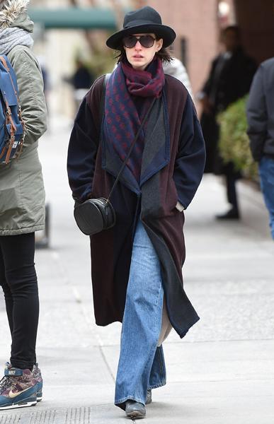 Энн Хэтэуэй в Нью-Йорке
