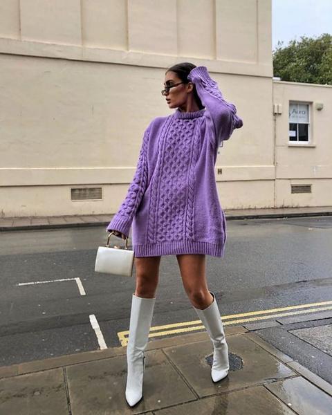 Фото №2 - Фэшн-идея: с чем носить объемный свитер