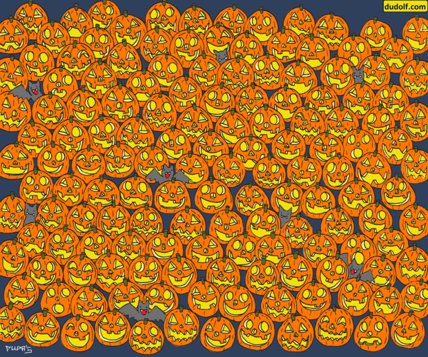 Фото №1 - Головоломка на Хеллоуин: найди безносую тыкву