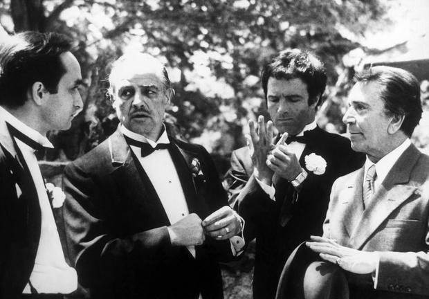 Кадры из фильма Крестный отец (1972 год), фото Марлона Брандо