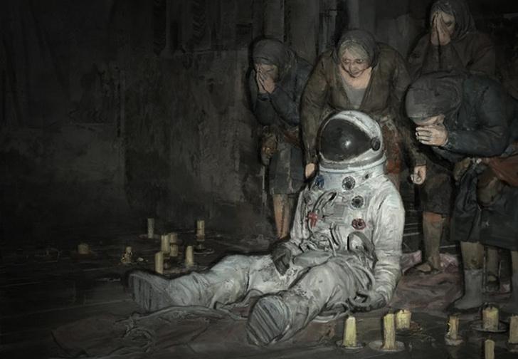 Фото №1 - Пять самых хтонических российских художников, картины которых одновременно веселят и нагоняют панику (галерея)