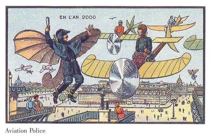 Фото №1 - Как люди изображали наше время сто лет назад