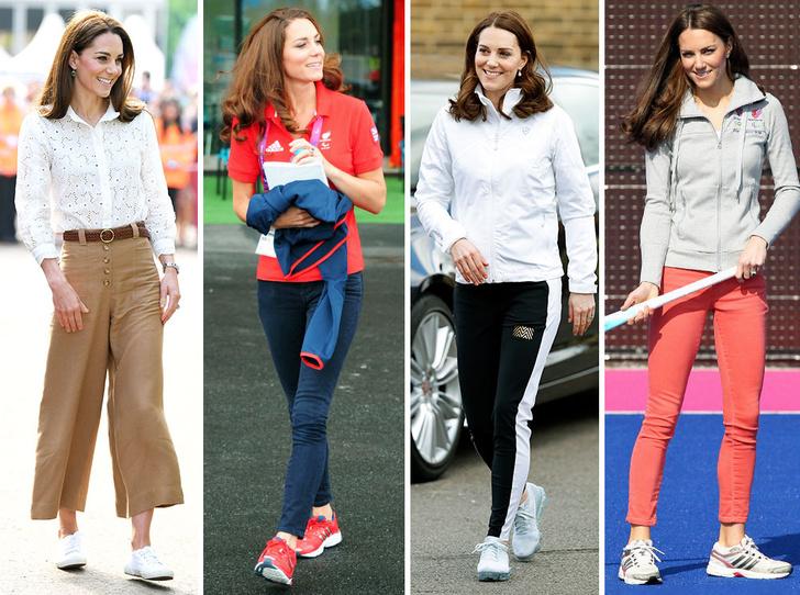 Фото №1 - Любимые кроссовки герцогини Кейт: от спортивных до повседневных