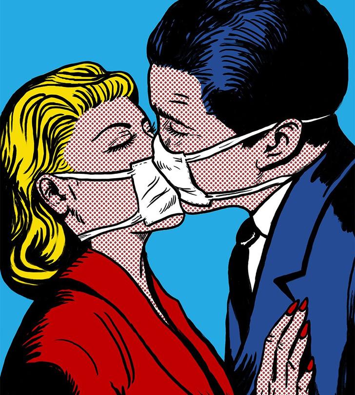 Фото №1 - Ласки в масках: как заниматься сексом во время пандемии