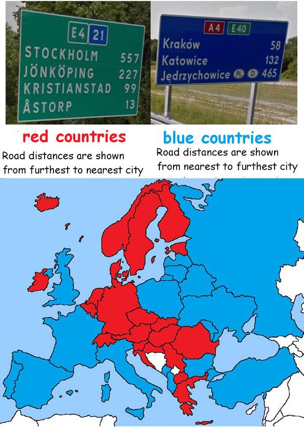 Фото №6 - 5 карт, которые показывают различия в правилах дорожного движения стран мира