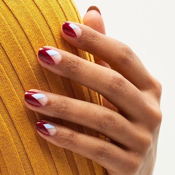 Фото №3 - Вишневый маникюр: осенний тренд, который подходит для ногтей любой длины