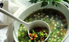Суп из брокколи и цветной капусты от аниты цой
