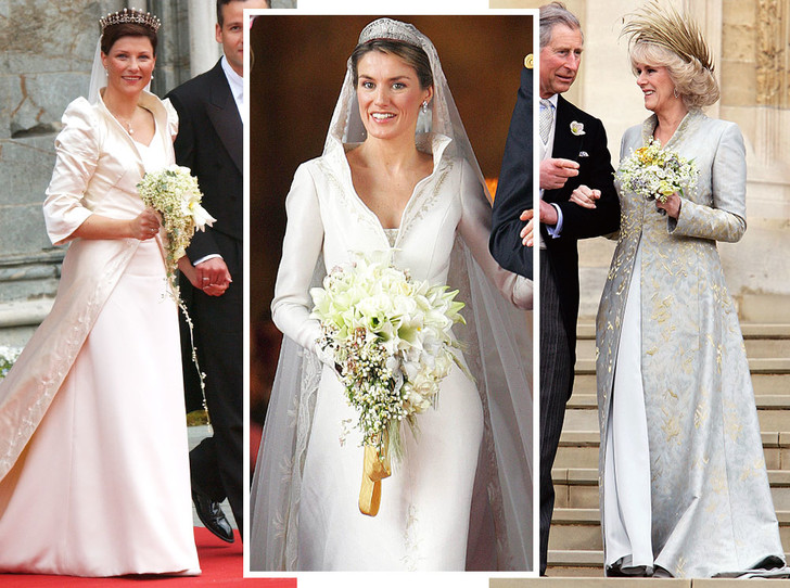 Фото №1 - Платья-близнецы: 15 слишком похожих свадебных нарядов королевских особ