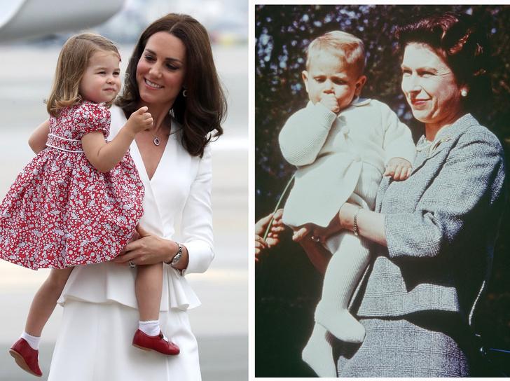 Фото №1 - 5 важных правил королевского материнства, которые Кейт переняла у Елизаветы II