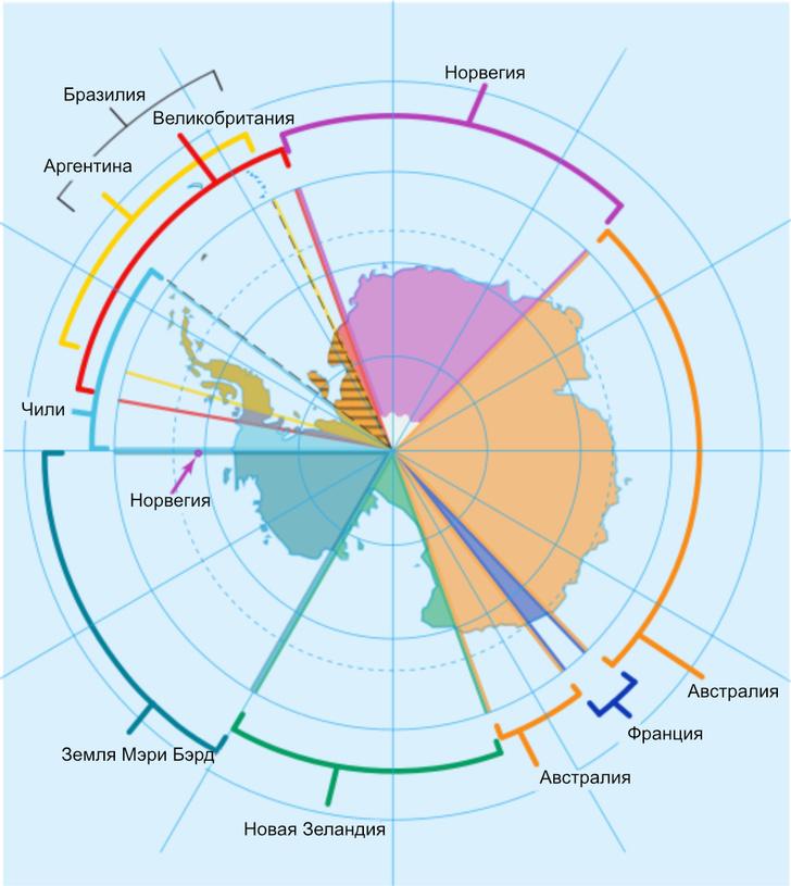 Фото №2 - Карта: какая страна на какую часть Антарктиды претендует