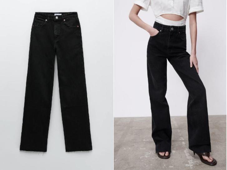 Фото №3 - Актуальные черные джинсы, которые стройнят