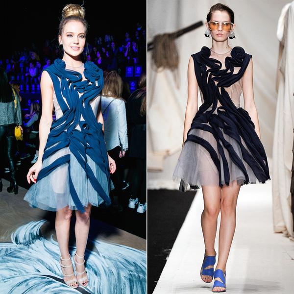 Фото №17 - Кто в дизайнерских нарядах выглядит круче? Глюкоза VS топ-модели