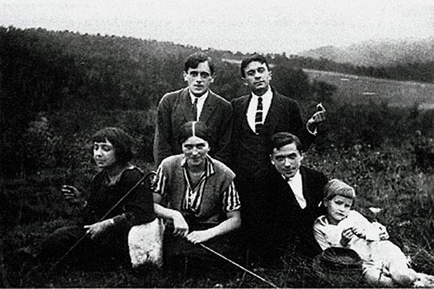Марина Цветаева, Сергей Эфрон, Константин Родзевич, Прага, 1923 г.
